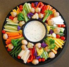 Vegetable crudite with chunky herbed blue cheese or garlic aioli