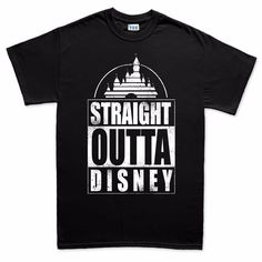 Straight Outta Disney Compton Funny Mens T Shirt | eBay
