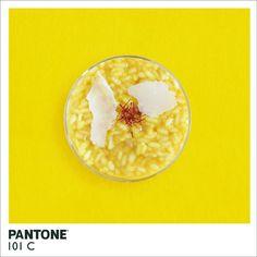 Comida Pantone   Pantone 101 C.