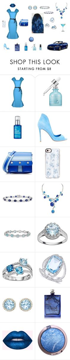 """""""Blue for You"""" by browncoat4ever ❤ liked on Polyvore featuring beauty, Mercedes-Benz, WithChic, SkinCare, Gianvito Rossi, Kenzo, Casetify, Other, Blue Nile and Effy Jewelry"""