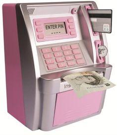 Pink ATM Savings Bank Machine