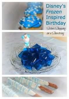 Disney Frozen Birthday.  Ive put together a few SIMPLE ideas on creating a beautiful Frozen theme birthday party..