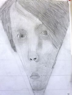 Distorted drawing for Etching