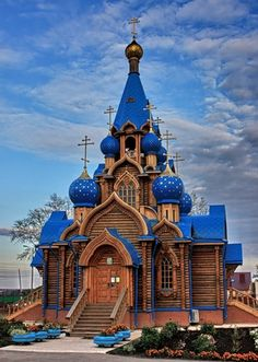 Peter Church in Dubrava, near Samara.:   Oh, there are unique words,   who they said - spent too much.   Only inexhaustible blue of   Heaven, and God's mercy.   Anna Akhmatova