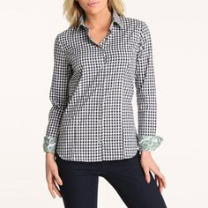 Gingham Paisley Shirt by Jared Lang, in Black, $68.25, now featured on Fab. Retail $260. 2/23/2013