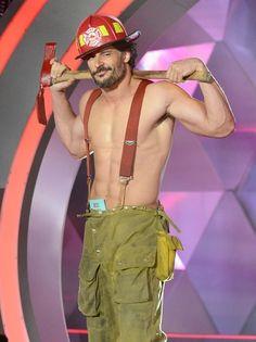 When Alcide becomes a fireman, women faint. (Joe M. at the MTV Movie Awards)