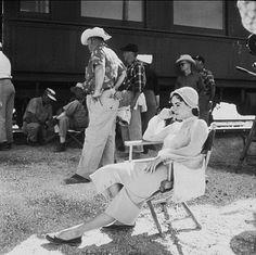 "Elizabeth Taylor on location for ""Giant"" in Marfa Texas"