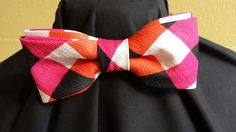Unisex Multicolor Plaid Bow Tie by NoveltyBowTies on Etsy