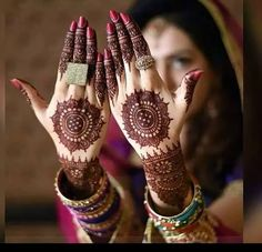 Center Round Bridal Mehndi Design