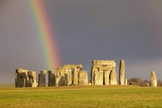 Rainbow at Stonehenge Stonehenge, Machu Picchu, London In December, Homes England, Rainbow Photography, A New York Minute, Mysterious Places, Photography Gallery, Dream Vacations