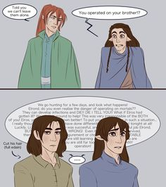 Elros and Elrond - new ears pt 2 by IDAHL on DeviantArt