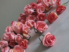 DIY Paper flowers tutorials. roses, sweet pea, daisy... (I really like this one!)
