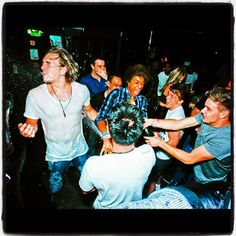 andy at liams birthday party and josh in the back