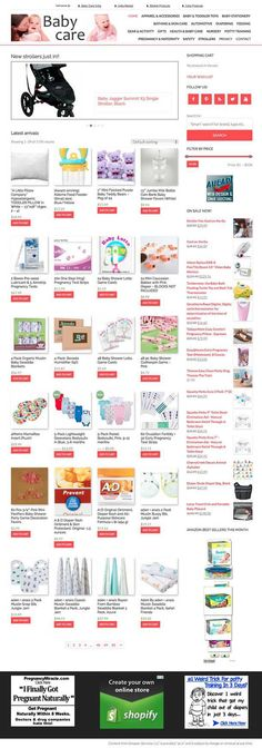 A complete BABY CARE e-store PRELOADED with 1,200 products!  Sell multiple itmes at once with your own ON-SITE SHOPPING CART, plus also benefit from 90-days cookies instead of 1-day. A wishlist is also included. Impress your visitors with product variation just like the big e-tailers! Special widgets and features will make for a great shopping experience for your visitors and your store on par with the major e-tailers. The Big E, Affiliate Websites, Getting Pregnant, Baby Care, Benefit, Cart, Cookies, Amazon, Store