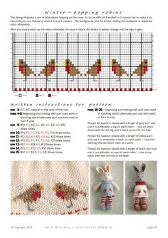 Knitted Bunnies, Knitted Animals, Knitted Dolls, Fair Isle Knitting Patterns, Knitting Charts, Baby Knitting, Cross Stitch Bird, Cross Stitch Patterns, Little Cotton Rabbits