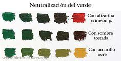 Curso de pintura: mezclar verde
