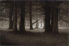 Walk Towards the Light, 17x21 Aquatint Etching (single plate) - Terry Steinke