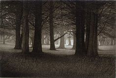Walk Towards the Light, 17x21 Aquatint Etching (single plate) - Terry Steinke
