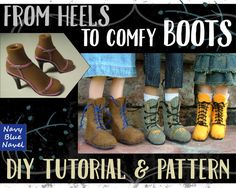 DIY BOOTS for Bratz - turn Bratz heels into comfy handmade boots - instant download pdf TUTORIAL and pattern