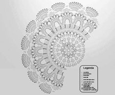 World crochet: Napkin 604 Crochet Mandala Pattern, Crochet Diagram, Filet Crochet, Knit Crochet, Crochet Patterns, Crochet Buttons, Thread Crochet, Crochet Doilies, Crochet Carpet