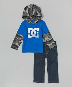 Another great find on #zulily! Royal Layered Hoodie & Denim Jeans - Infant & Toddler by DC #zulilyfinds $18.99