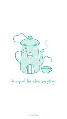 Tea vector - illustration ©Marion Blanc