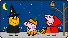Peppa Pig Coloring Pages for Kids ► Peppa Pig Coloring Games ► Peppa Pig Halloween Coloring Book p02