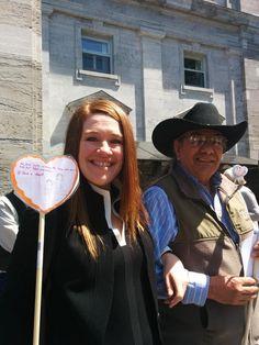 Planting a heart is @ClaraHughes_ proud witness of the TRC #TBT #TRC2015 #TRCHeartGardens @kairoscanada  <3
