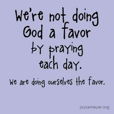 One sincere prayer will produce more good fruit than years of us trying to solve our own problems.  -Joyce Meyer