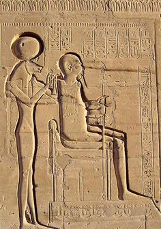 At the Ramesseum Temple, Luxor Sekhmet is shown holding Ptah representing the transfer of energy from the anodic Sun to Earth, powering natural disasters.