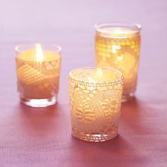 If you're looking to give a sweet, whimsical gift, then try making your own candleholders. Buy some lacy trim from any fabric store, then cut and glue into a candleholder of any size.   http://www.goodhousekeeping.com/home/crafts/bridal-shower-gifts#slide-2