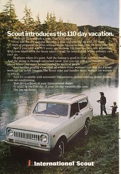 1973 International Scout Vintage Magazine Ad from National Geographic