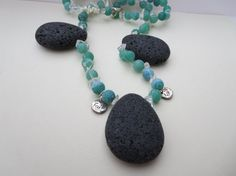Hey, I found this really awesome Etsy listing at https://www.etsy.com/listing/114517091/green-agate-lava-stone-necklace-green