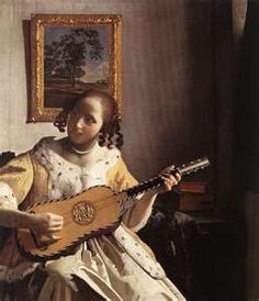 Johannes Vermeer - Johannes Vermeer The Guitar Player Painting