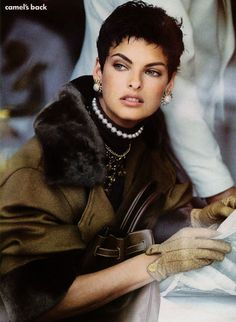 Linda Evangelista, 1989 always loved her short hair