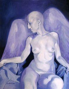 "Maria Kondimae ""Eluingel"" Oil on board, 70*90 cm. 2013."