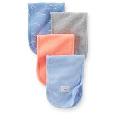 4-Pack Burp Cloths - PAÑO DE HOMBRO PARA GASES - 121D283 $42.000,00COP  Mantenerse limpio es fácil y cómodo con estos super paños suaves esenciales a la hora de los gases. Estas lindas impresiones hacen juego con nuestras colecciones.4-packAlgodón suave100% algodón interl...