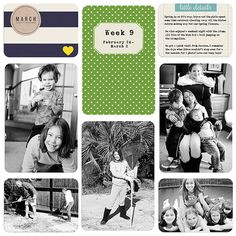 Digital Scrapbook Layouts by Nicole LeBlanc: Project Life | February 2013