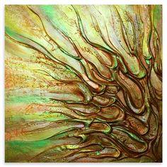 ACHICA | Victoria Stothard - Ascension I, Mixed Media on Canvas, 90x90cm