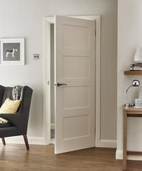This 4 Panel Shaker smooth internal moulded door has a simple design that would suit both contemporary and traditional interiors.