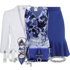 """3/4 Blazer"" by terry-tlc on Polyvore"