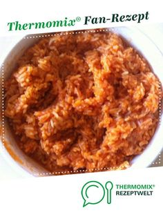 Tomato rice - delicious from Thermosumsi. A Thermomix ® recipe from the side dishes category at www.de, the Thermomix ® Community. Tomato rice - delicious Gaby Bäumer gabybumer Thermomix Tomato rice - delicious from Thermosumsi. A Thermo Healthy Meals For One, Healthy Low Carb Recipes, Healthy Snacks, Easy Meals, Rice Recipes, Seafood Recipes, Crockpot Recipes, Tomato Rice, Tomato Dishes
