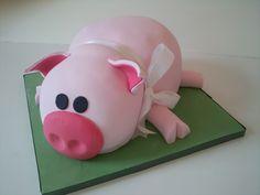 Pig shaped cake