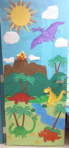 Dinosaur Classroom Door | Classroom
