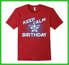 Mens Keep Calm It's My 65th Birthday T-Shirt for Men Medium Cranberry - Birthday shirts (*Amazon Partner-Link)