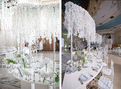 Нежная орхидея, оформление свадьбы от Юлии Шакировой, декор торжественного зала, столы для гостей
