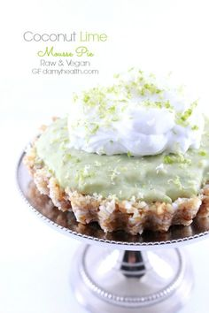 Coconut Lime Mousse Pie (Raw/Vegan) This Coconut Lime Mousse Pie is a fabulous Spring/Summer dessert for entertaining. It is tart, sweet, creamy and fresh. It is also raw, vegan, gluten free, dairy free and super simple to make.