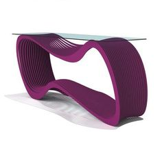 Arktura Loop Console Table Finish: Wild Orchid