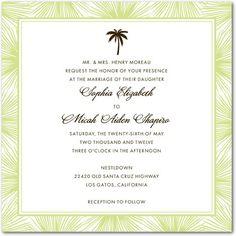 dreamy palm wedding invitations. #weddingpaperdivas