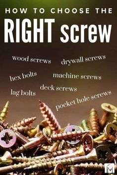 If you're a beginner DIYer, finding the right screw for your DIY project can be overwhelming! This beginner's guide is perfect for you! Get all the information about the different screws and their uses here! #screws #DIY #woodworking #screw